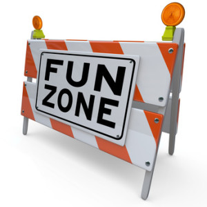 Fun Zone Barricade Construction Sign Kids Playground